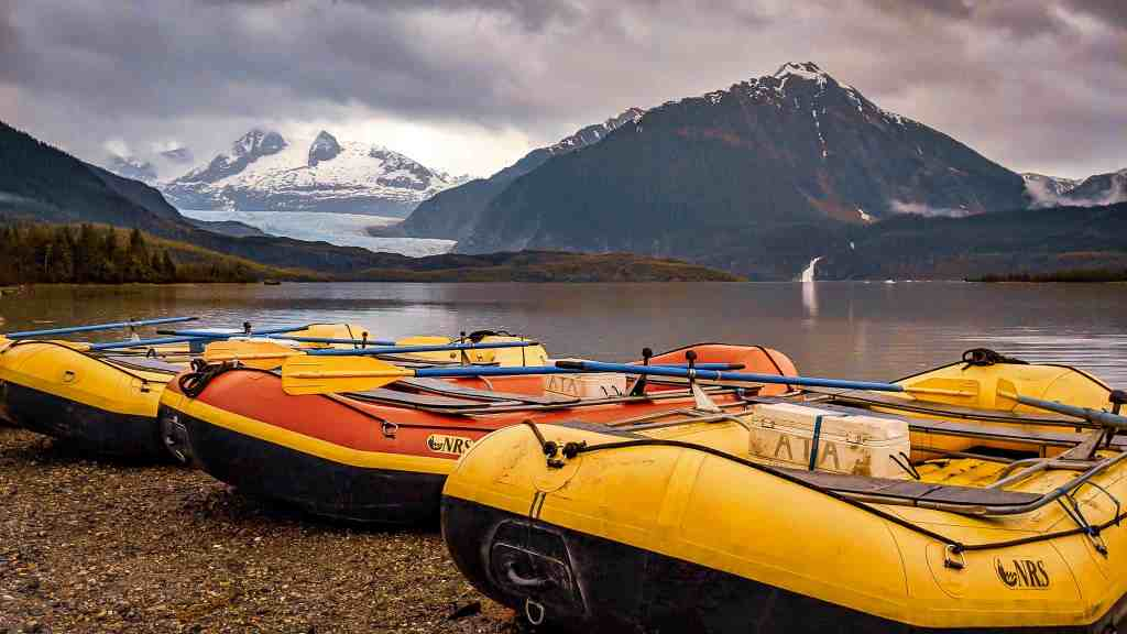 Mendenhall Glacier in Juneau Alaska