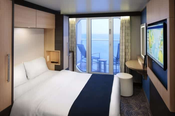 The studio cabin on Royal Caribbean's Anthem of the Seas.