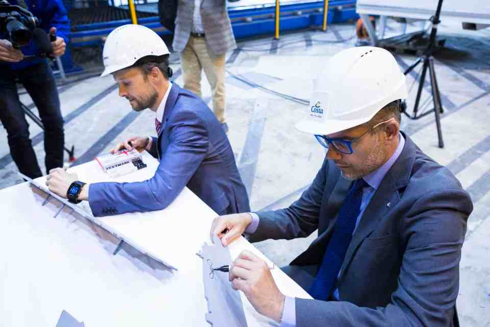 Carnival Corporation's Costa Cruises Holds Steel-Cutting Ceremony for Costa Toscana | 26