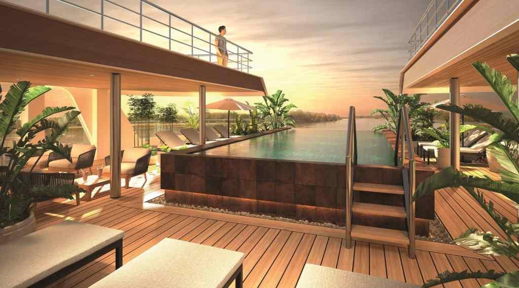 Emerald Waterways' brand new Star-Ship,Emerald Harmony,