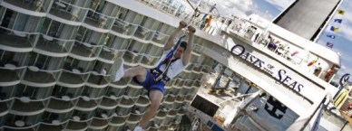 oasis of the seas was the first of this class of ships to feature a zipline across central park