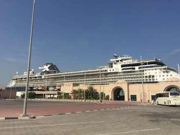 celebrity constellation alongside at dubai cruise terminal