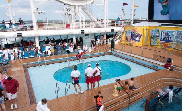 disney dream lifeguards donald's pool