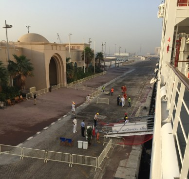jewel of the seas disembarked passengers in dubai before being moved to make way for more cruise ships at dubai cruise terminal