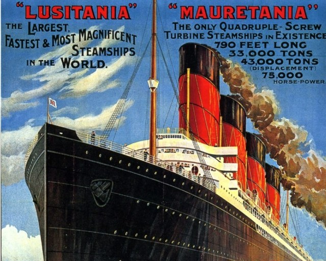 900 cunard line monarchs of the sea vintage poster