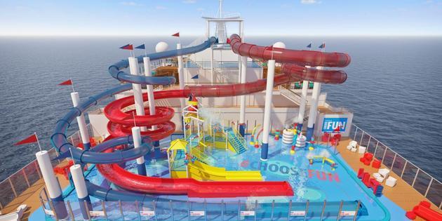 waterworks on carnival panorama image carnival cruise