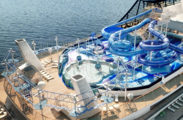 aquapark aboard msc bellissima