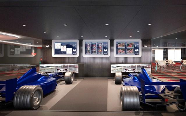msc bellissima race simulator