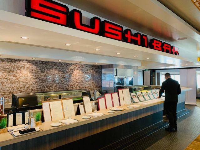 sushi bar aboard norwegian jade