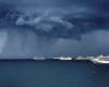 cruise ships storm clouds