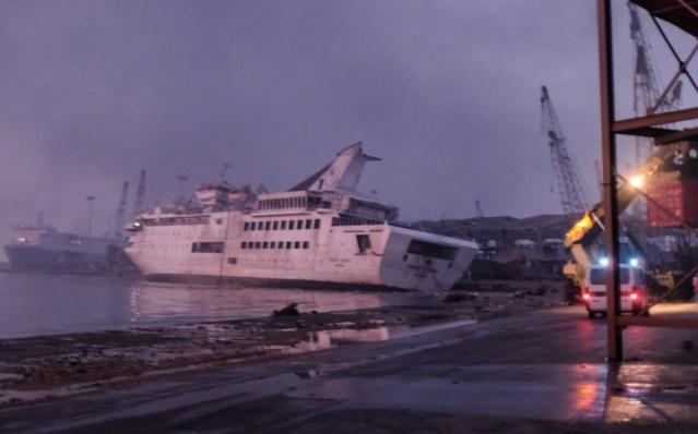 orient queen cruise ship in beirut port damaged