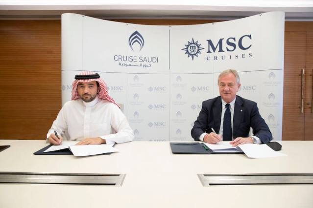 msc and saudi arabian tourism executives announce new saudi arabian cruises