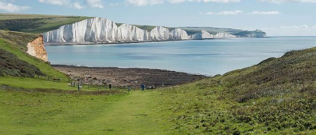 dover england white cliffs at seven sisters national park