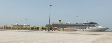 costa atlantica in port in dubai