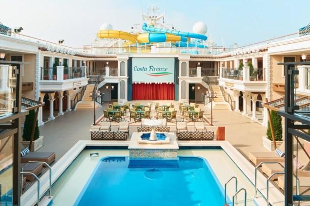 the versilia pool area aboard costa firenze