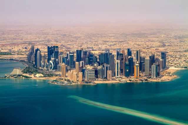skyline desert downtown doha