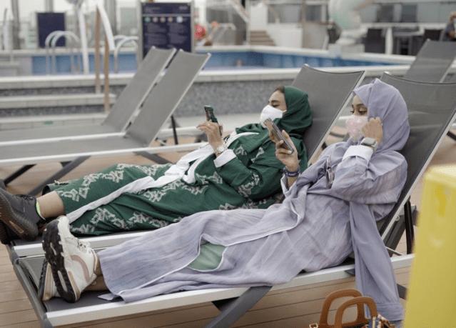 saudi arabian passengers msc bellissima