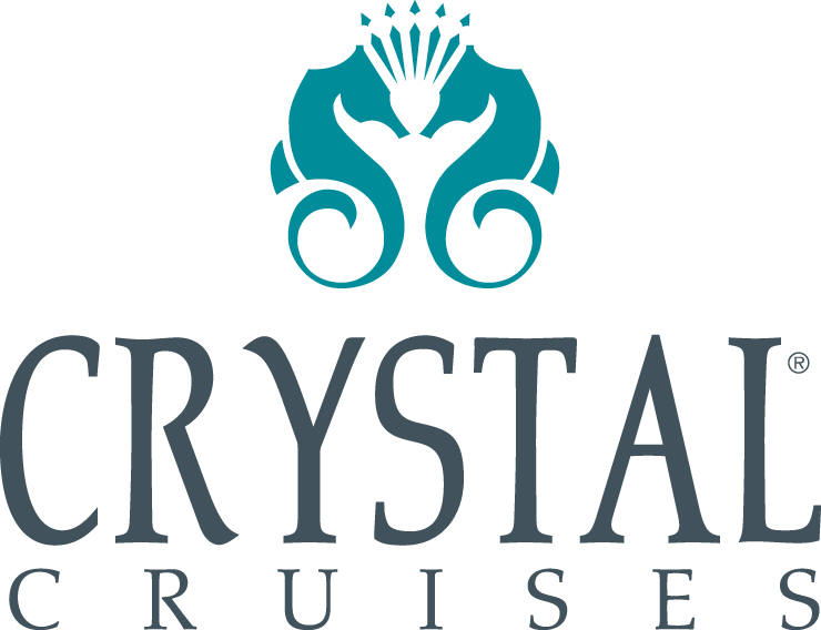 The Crystal Cruises logo features two seahorses forming a heart shape (well, kind of)