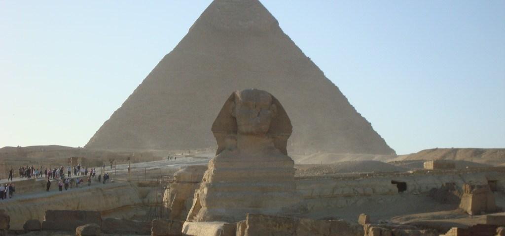 Pyramiden von Kairo mit de Sphinx