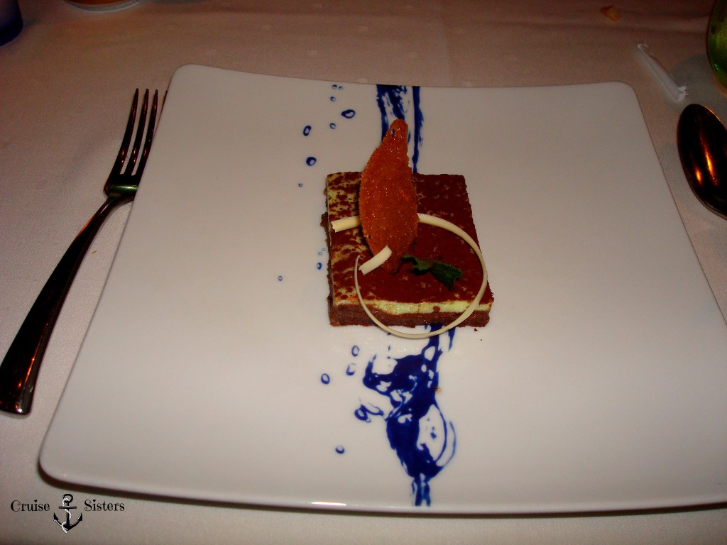 Desert at the blu Restaurant