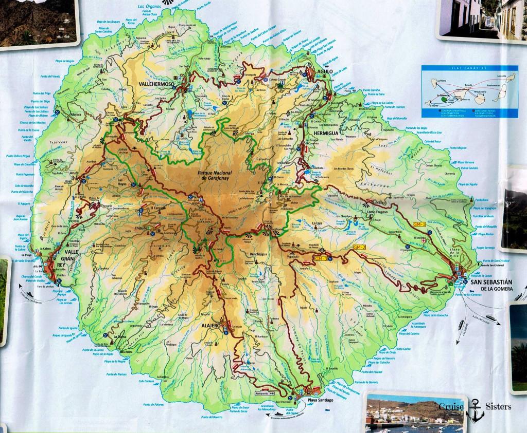Landkarte La Gomera