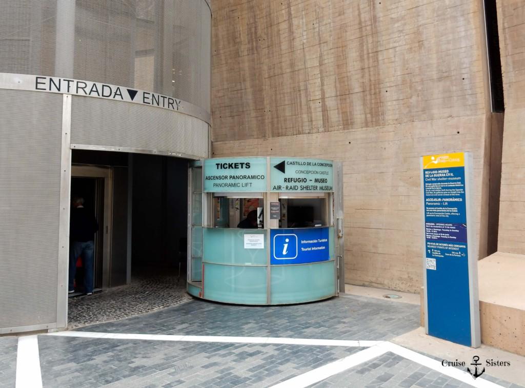 Eintritt zum Panorama Lift in Cartagena