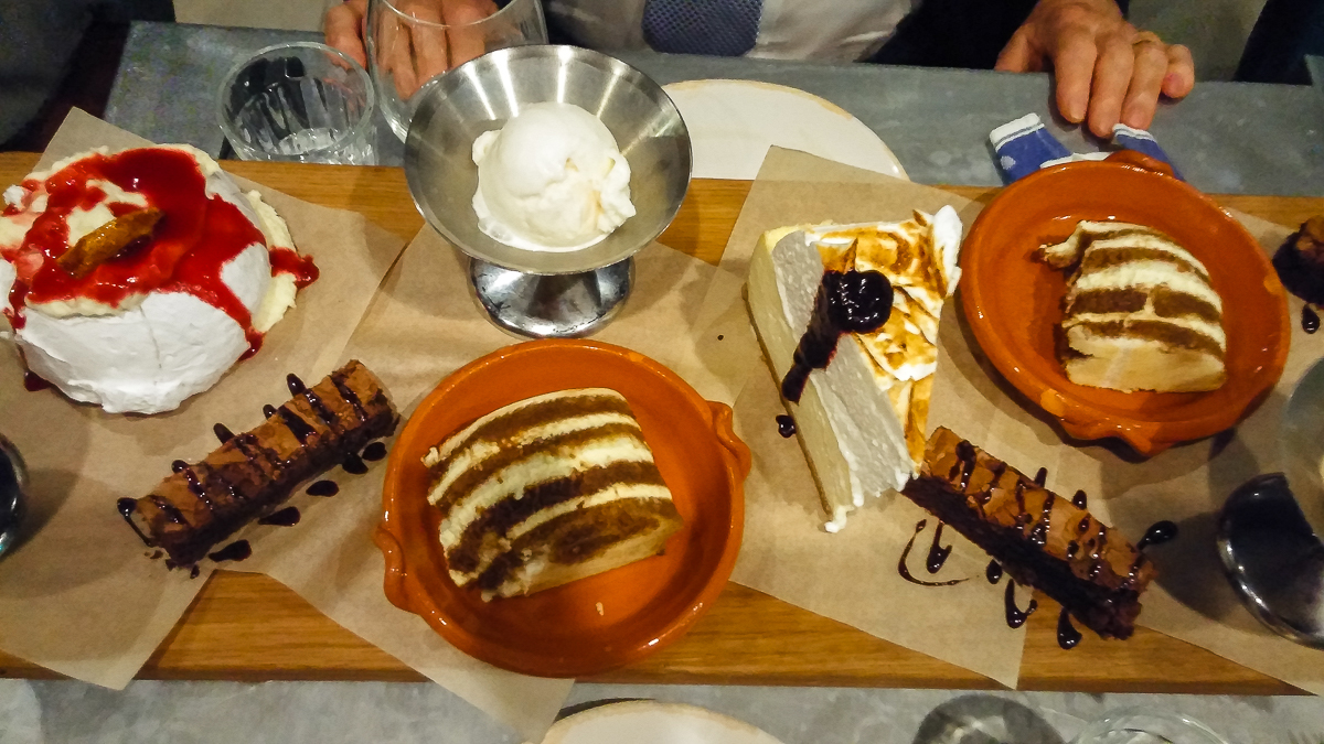 Desserts at Jamie's Italian aboard Harmony of the Seas