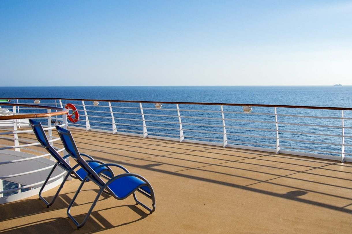 Sun lounger aboard the Harmony of the Seas