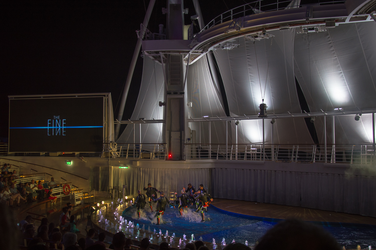 The Fine Line Show aboard the Harmony of the Seas