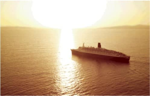 Sailing into the sunset. QE2 left Cunard service in November 2008 leaving a proud record and legacy.