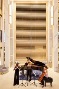 Musicians playing in Viking Star's Atrium