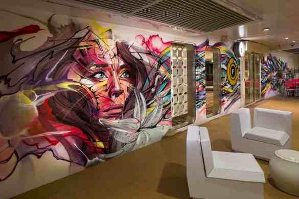 Teen Mural - Deck 15 Aft Harmony of the Seas - Royal Caribbean International