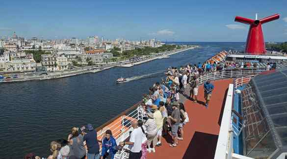 The Carnival Paradise arrives in Havana Harbor in Havana, Cuba. (Andy Newman/Carnival Cruise Line)