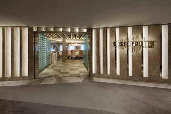 Entrance Cosmopolitan Restaurant - Deck 4 Aft Portside Celebrity EDGE - Celebrity Cruises