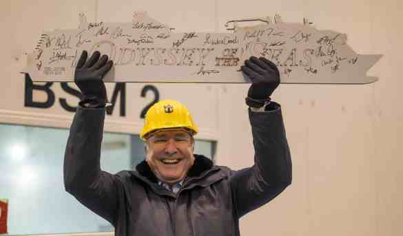 Royal Caribbean Celebrates First Steel Cut For Odyssey of the Seas at Meyer Werft Shipyard