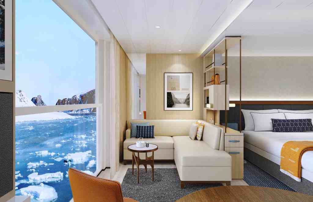 Rendering of the Viking Expedition ship: Penthouse Junior Suite