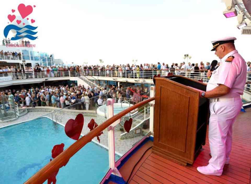 Crown Princess vow renewal ceremony 2020