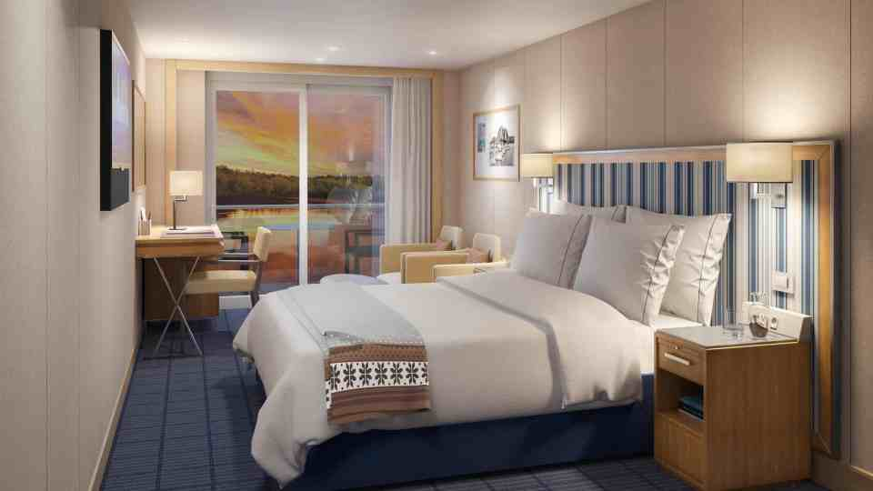 Rendering of the Viking Mississippi - Deluxe Veranda Stateroom