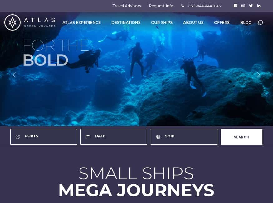 Atlas Ocean Voyages' New Website