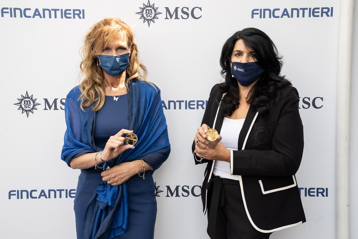 Godmothers Monica Somma MSC Cruises and Jolette Vincenzi Fincantieri