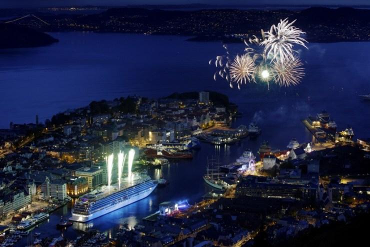 Bergen, Norway 20150517: Viking Star christening in Bergen. PHOTO: PAUL S. AMUNDSEN