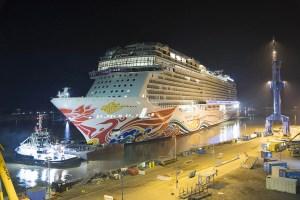 Norwegian Cruise Line's Newest Cruise Ship Leaves Shipyard