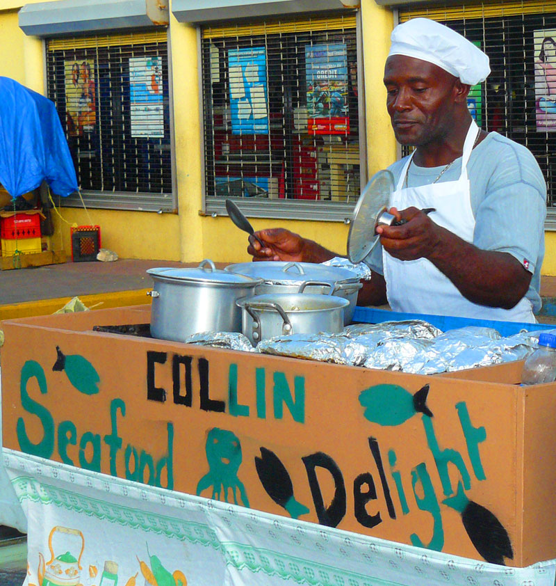 Jamaican Street Food Vendor