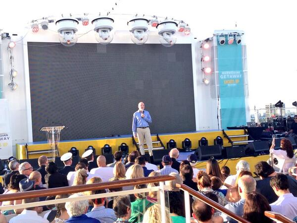 Kevin Sheehan, NCL CEO at Norwegian Getaway Christening