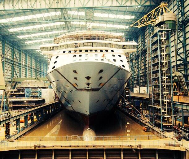 Quantum of the Seas Floated Out | CruiseIndQuantum Of The Seas Float Out