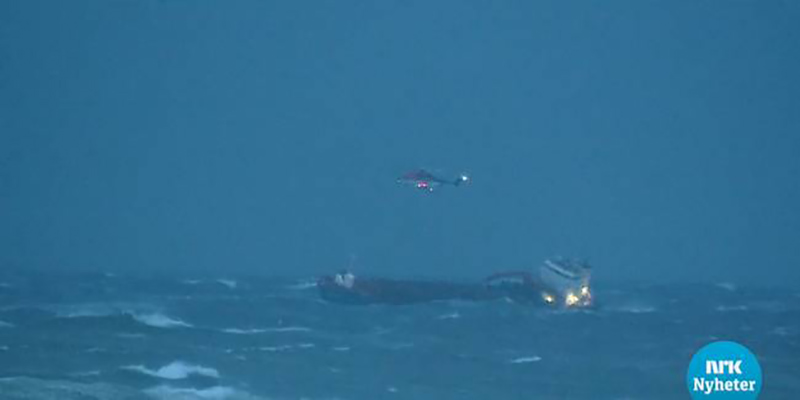 Cargo Ship Assisting In Viking Sky Rescue Issues Distress Call