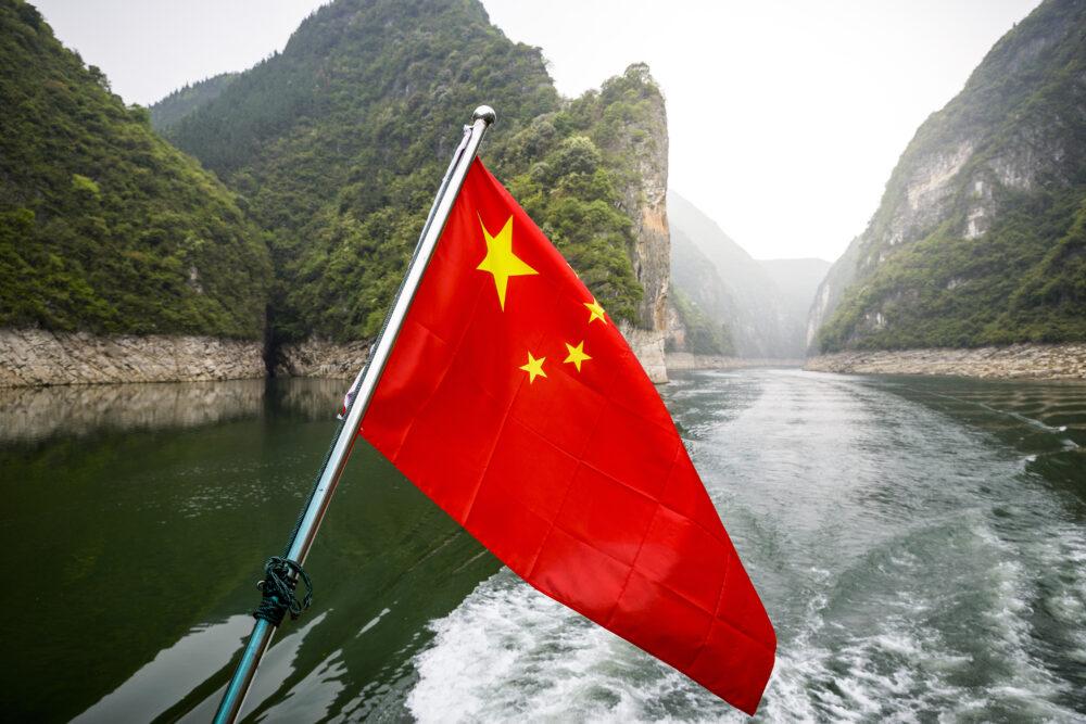 Den smukke Yangtze flod i Kina