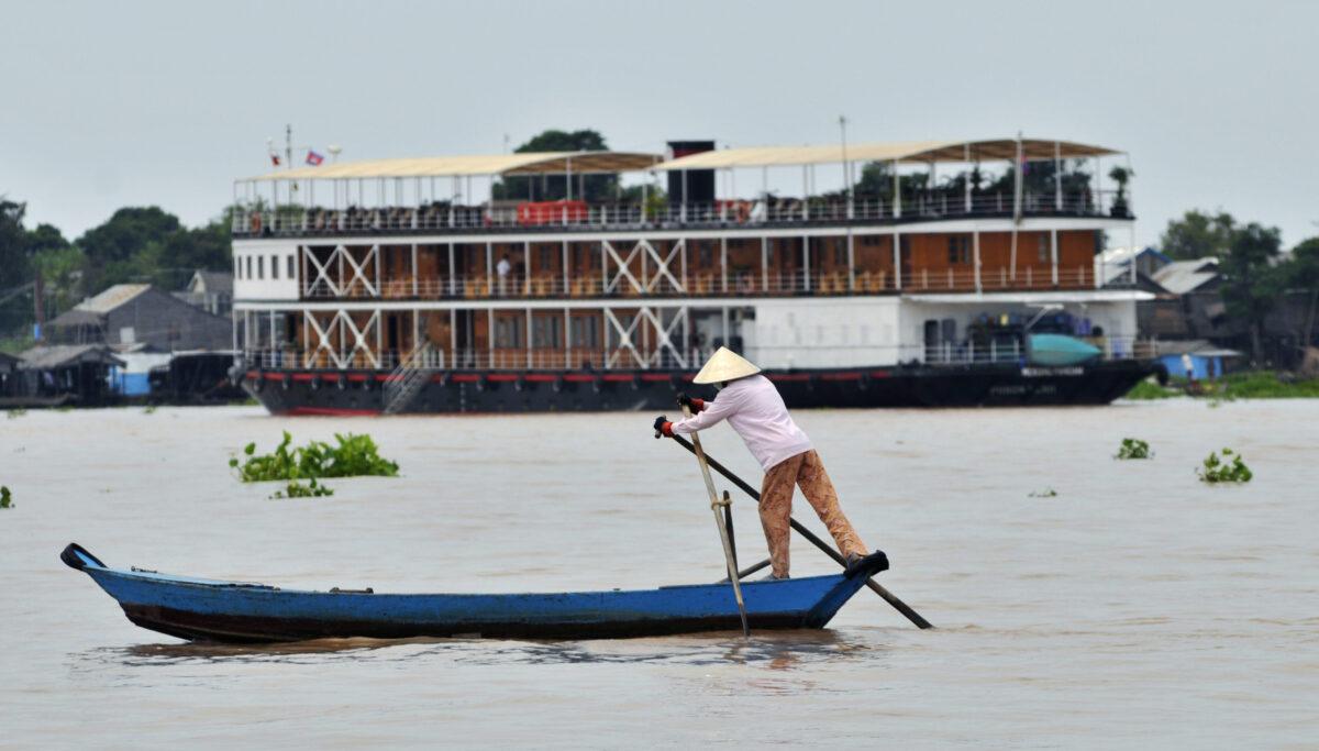 Den magiske Mekong Flod i Cambodia