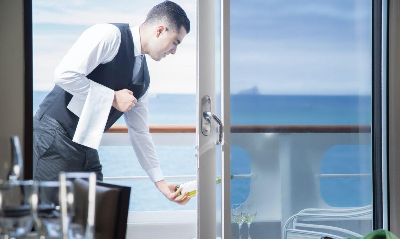 Suite med balkon, room service og den bedste udsig