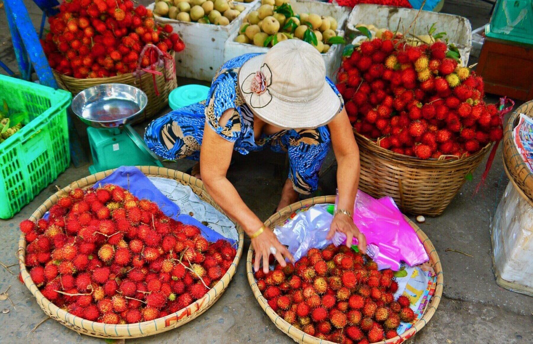 De altid inspirerende og farverige markeder i Cambodia